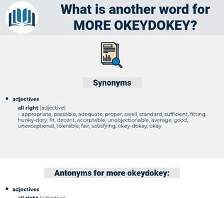 more okeydokey, synonym more okeydokey, another word for more okeydokey, words like more okeydokey, thesaurus more okeydokey