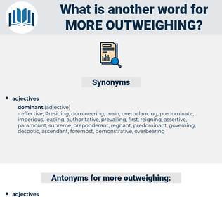more outweighing, synonym more outweighing, another word for more outweighing, words like more outweighing, thesaurus more outweighing