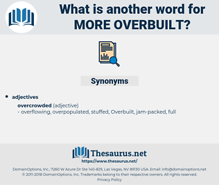 more overbuilt, synonym more overbuilt, another word for more overbuilt, words like more overbuilt, thesaurus more overbuilt