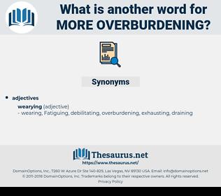 more overburdening, synonym more overburdening, another word for more overburdening, words like more overburdening, thesaurus more overburdening