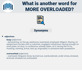 more overloaded, synonym more overloaded, another word for more overloaded, words like more overloaded, thesaurus more overloaded