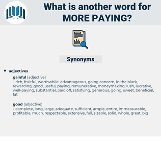 more paying, synonym more paying, another word for more paying, words like more paying, thesaurus more paying