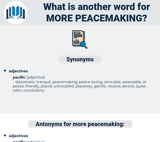 more peacemaking, synonym more peacemaking, another word for more peacemaking, words like more peacemaking, thesaurus more peacemaking