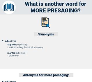 more presaging, synonym more presaging, another word for more presaging, words like more presaging, thesaurus more presaging