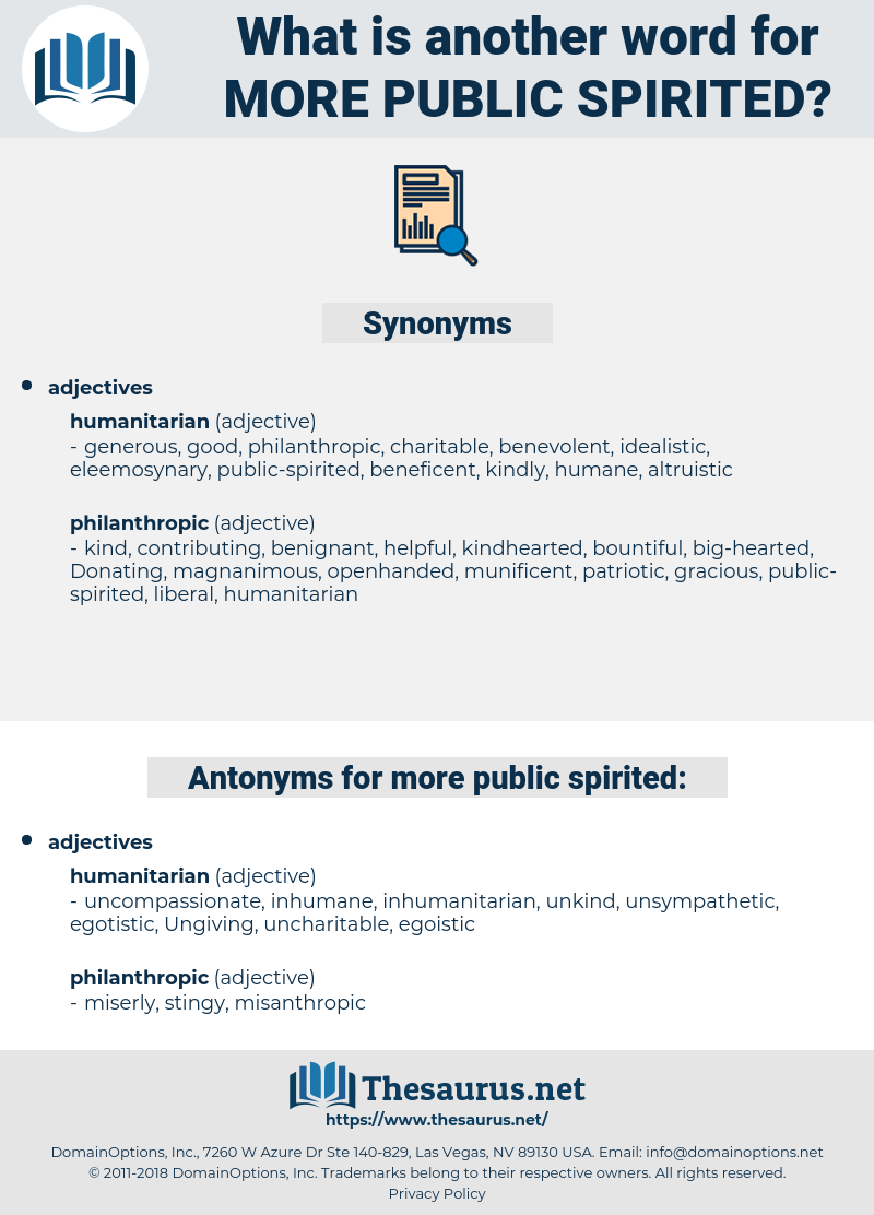 more public-spirited, synonym more public-spirited, another word for more public-spirited, words like more public-spirited, thesaurus more public-spirited