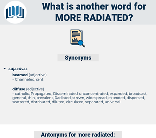 more radiated, synonym more radiated, another word for more radiated, words like more radiated, thesaurus more radiated