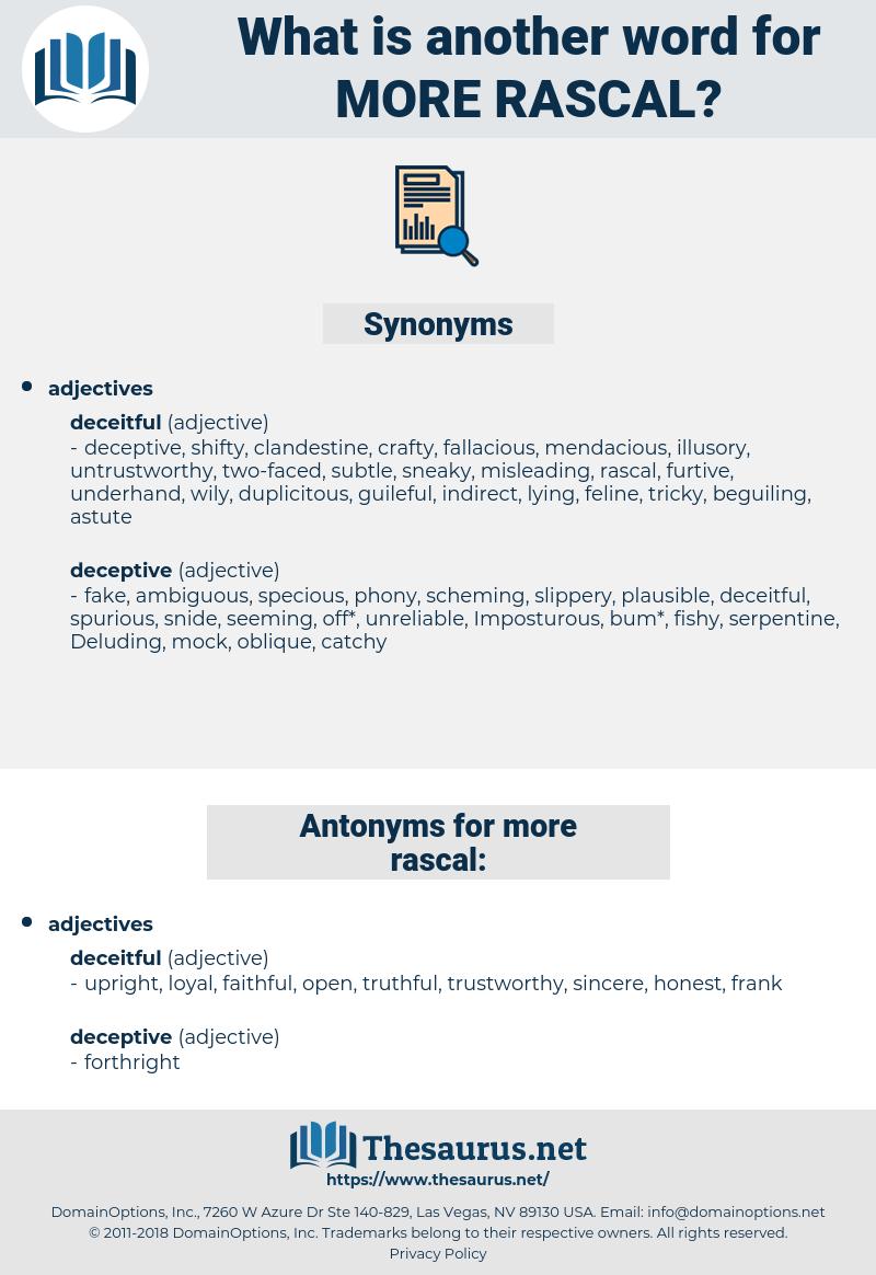 more rascal, synonym more rascal, another word for more rascal, words like more rascal, thesaurus more rascal
