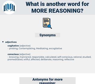more reasoning, synonym more reasoning, another word for more reasoning, words like more reasoning, thesaurus more reasoning