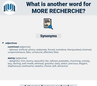 more recherche, synonym more recherche, another word for more recherche, words like more recherche, thesaurus more recherche