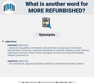 more refurbished, synonym more refurbished, another word for more refurbished, words like more refurbished, thesaurus more refurbished