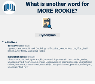 more rookie, synonym more rookie, another word for more rookie, words like more rookie, thesaurus more rookie