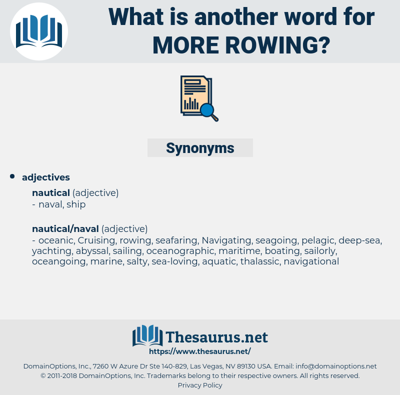more rowing, synonym more rowing, another word for more rowing, words like more rowing, thesaurus more rowing