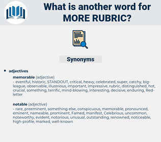 more rubric, synonym more rubric, another word for more rubric, words like more rubric, thesaurus more rubric