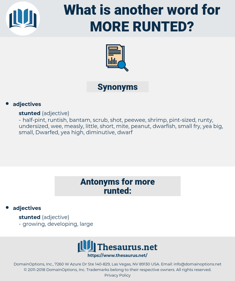 more runted, synonym more runted, another word for more runted, words like more runted, thesaurus more runted