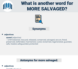 more salvaged, synonym more salvaged, another word for more salvaged, words like more salvaged, thesaurus more salvaged