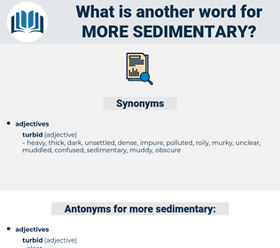 more sedimentary, synonym more sedimentary, another word for more sedimentary, words like more sedimentary, thesaurus more sedimentary