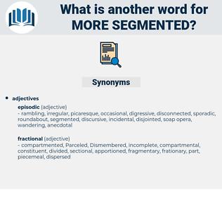 more segmented, synonym more segmented, another word for more segmented, words like more segmented, thesaurus more segmented