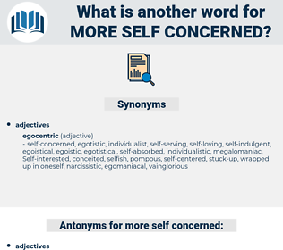 more self concerned, synonym more self concerned, another word for more self concerned, words like more self concerned, thesaurus more self concerned