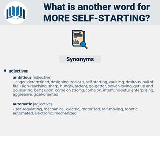 more self starting, synonym more self starting, another word for more self starting, words like more self starting, thesaurus more self starting