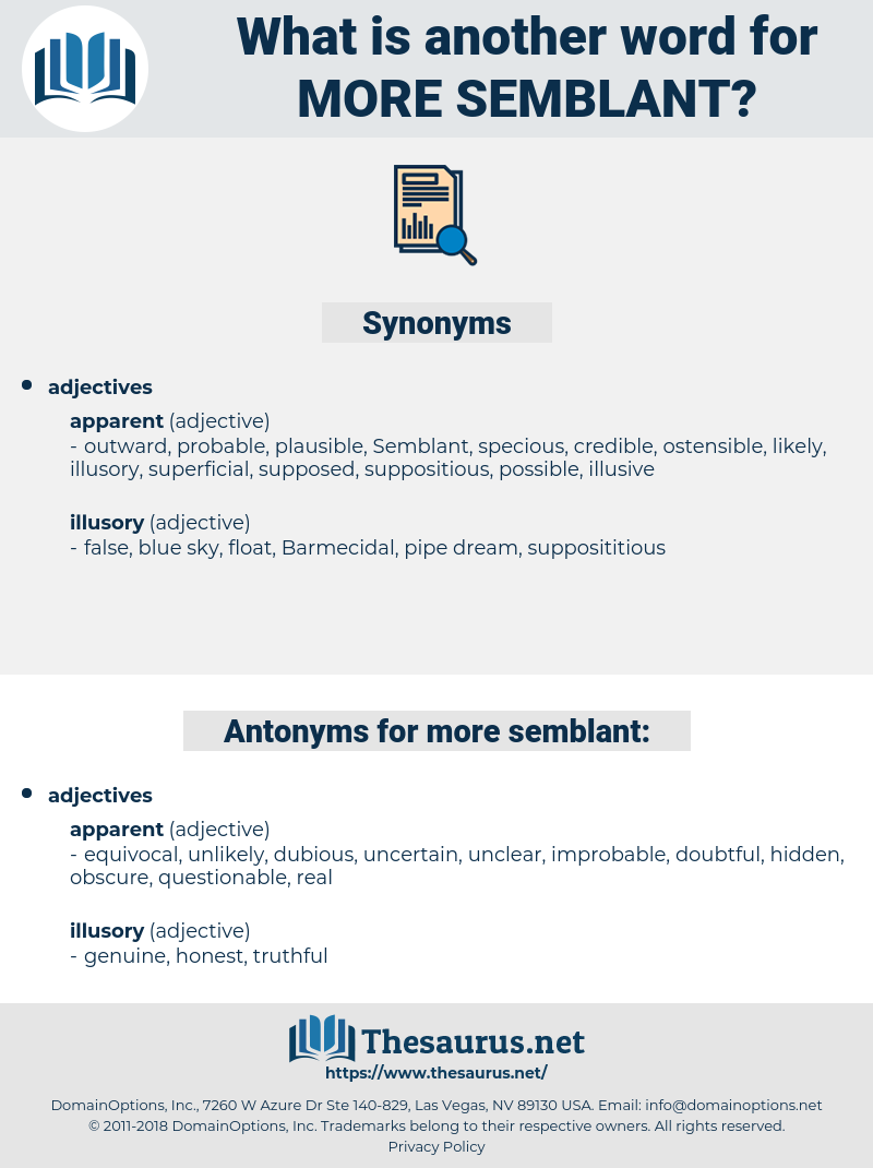 more semblant, synonym more semblant, another word for more semblant, words like more semblant, thesaurus more semblant