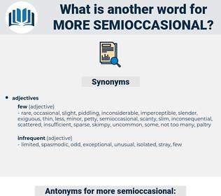 more semioccasional, synonym more semioccasional, another word for more semioccasional, words like more semioccasional, thesaurus more semioccasional