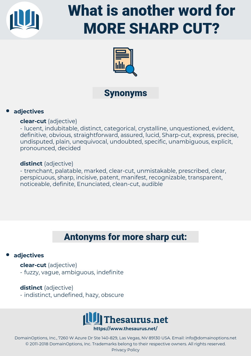 more sharp-cut, synonym more sharp-cut, another word for more sharp-cut, words like more sharp-cut, thesaurus more sharp-cut