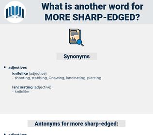 more sharp edged, synonym more sharp edged, another word for more sharp edged, words like more sharp edged, thesaurus more sharp edged
