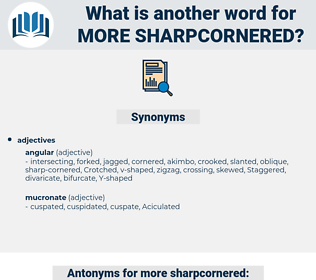 more sharpcornered, synonym more sharpcornered, another word for more sharpcornered, words like more sharpcornered, thesaurus more sharpcornered