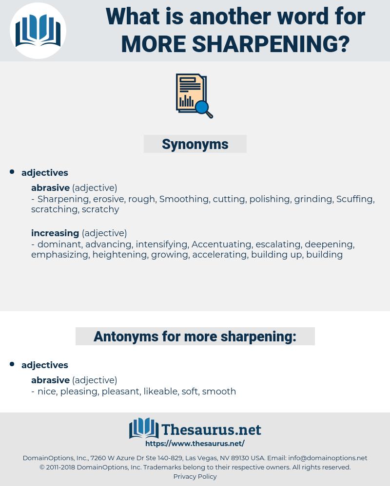 more sharpening, synonym more sharpening, another word for more sharpening, words like more sharpening, thesaurus more sharpening