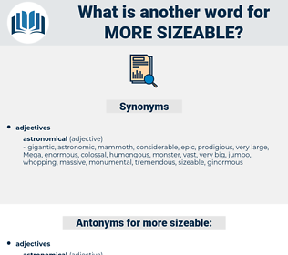 more sizeable, synonym more sizeable, another word for more sizeable, words like more sizeable, thesaurus more sizeable
