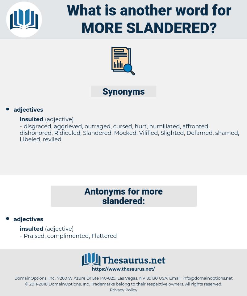 more slandered, synonym more slandered, another word for more slandered, words like more slandered, thesaurus more slandered