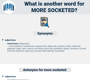 more socketed, synonym more socketed, another word for more socketed, words like more socketed, thesaurus more socketed