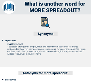more spreadout, synonym more spreadout, another word for more spreadout, words like more spreadout, thesaurus more spreadout