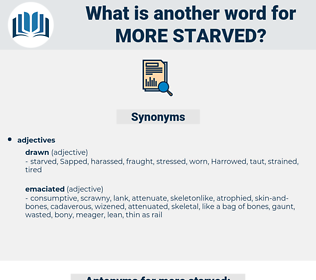 more starved, synonym more starved, another word for more starved, words like more starved, thesaurus more starved