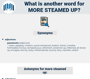 more steamed up, synonym more steamed up, another word for more steamed up, words like more steamed up, thesaurus more steamed up