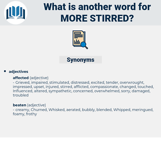 more stirred, synonym more stirred, another word for more stirred, words like more stirred, thesaurus more stirred