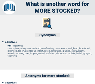 more stocked, synonym more stocked, another word for more stocked, words like more stocked, thesaurus more stocked