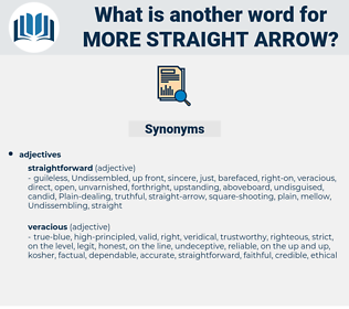 more straight-arrow, synonym more straight-arrow, another word for more straight-arrow, words like more straight-arrow, thesaurus more straight-arrow