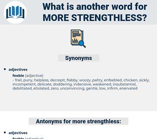 more strengthless, synonym more strengthless, another word for more strengthless, words like more strengthless, thesaurus more strengthless