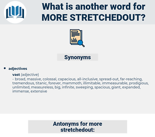 more stretchedout, synonym more stretchedout, another word for more stretchedout, words like more stretchedout, thesaurus more stretchedout