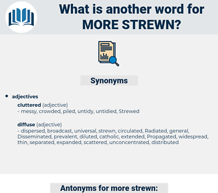 more strewn, synonym more strewn, another word for more strewn, words like more strewn, thesaurus more strewn