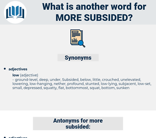 more subsided, synonym more subsided, another word for more subsided, words like more subsided, thesaurus more subsided