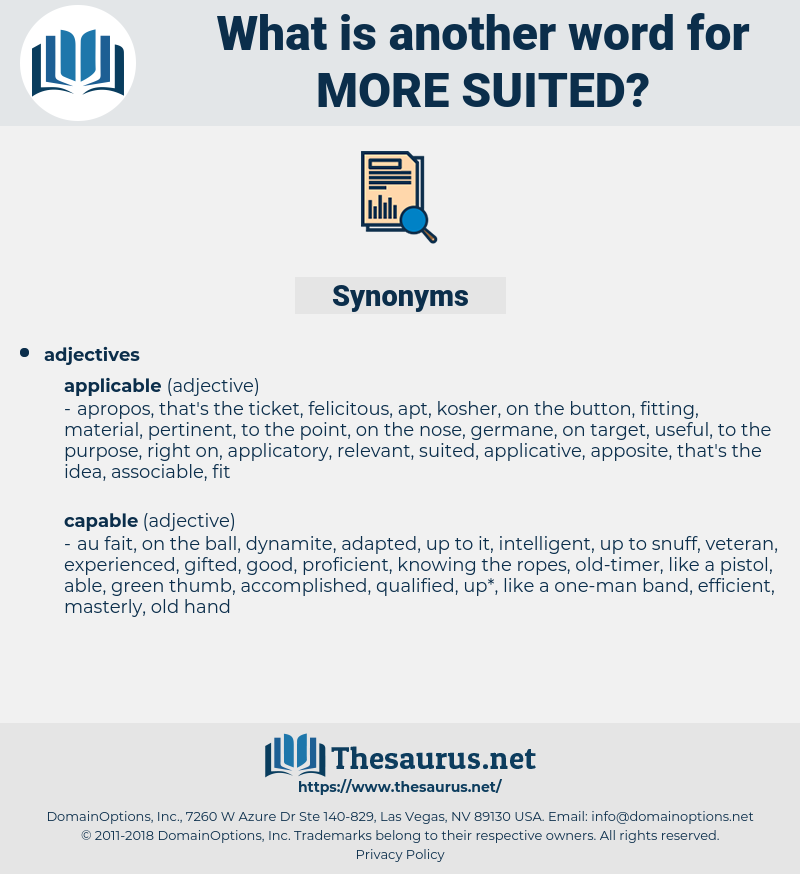 more suited, synonym more suited, another word for more suited, words like more suited, thesaurus more suited
