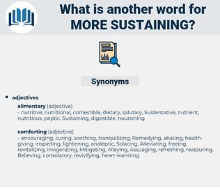 more sustaining, synonym more sustaining, another word for more sustaining, words like more sustaining, thesaurus more sustaining