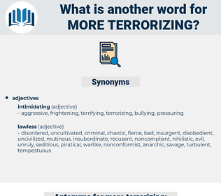 more terrorizing, synonym more terrorizing, another word for more terrorizing, words like more terrorizing, thesaurus more terrorizing