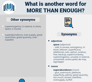 more than enough, synonym more than enough, another word for more than enough, words like more than enough, thesaurus more than enough
