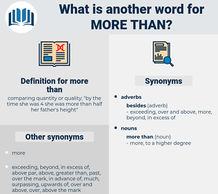 more than, synonym more than, another word for more than, words like more than, thesaurus more than