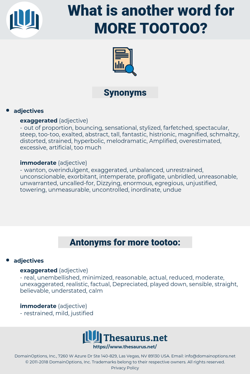 more tootoo, synonym more tootoo, another word for more tootoo, words like more tootoo, thesaurus more tootoo