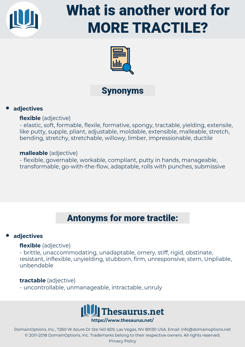 more tractile, synonym more tractile, another word for more tractile, words like more tractile, thesaurus more tractile