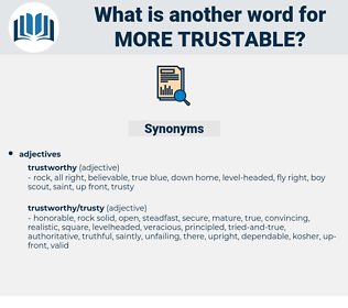 more trustable, synonym more trustable, another word for more trustable, words like more trustable, thesaurus more trustable